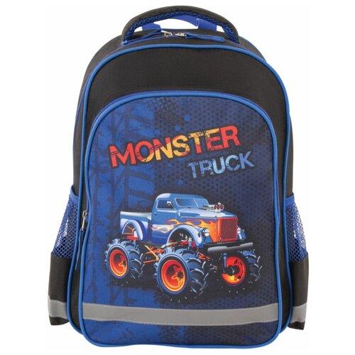 Купить Пифагор Рюкзак Monster Truck, черный/синий, Рюкзаки, ранцы