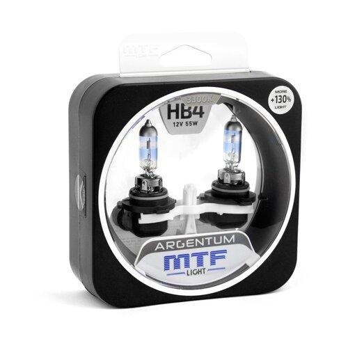 Фото - Лампа автомобильная галогенная MTF Argentum +130% H3A12B4 HB4 12V 55W 2 шт. лампа автомобильная галогенная mtf titanium htn12b4 hb4 9006 12v 55w 2 шт