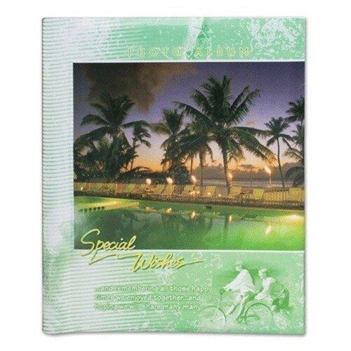 Фотоальбом BRAUBERG Курорт (390687), 120 фото, для формата 18 х 24, зеленый