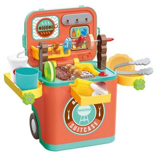Игровой набор ald BBQ Suitcase L666-39A желтый/оранжевый/зеленый