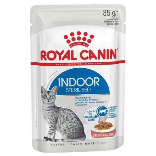Корм для стерилизованных кошек Royal Canin для живущих в помещении 85 г (кусочки в соусе)
