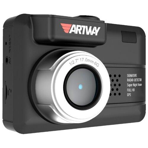 Видеорегистратор с радар-детектором Artway MD-107 Signature 3 в 1 Compact, GPS черный