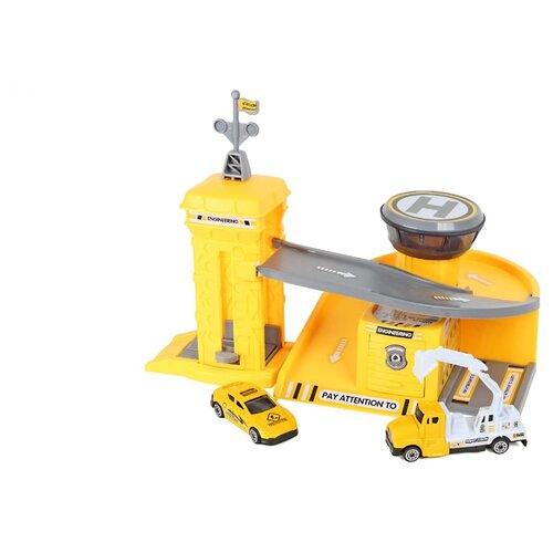 Купить Chengmei toys Строительная парковка CM559-22b желтый/серый, Детские парковки и гаражи