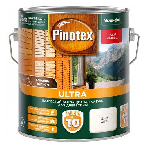 Водозащитная пропитка Pinotex Ultra белый 2.7 л