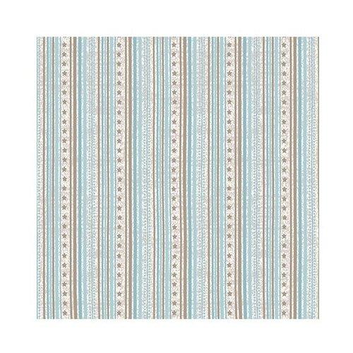 Ткань STOF PEPPY (P - W) для пэчворка 4497 фасовка 50 x 55 см 146±5 г/кв.м Полоски/звездочки 008
