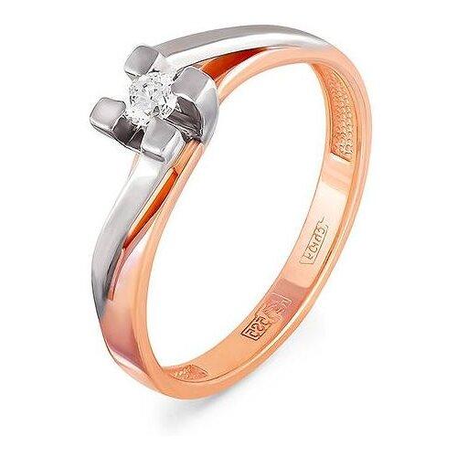 KABAROVSKY Кольцо с 1 бриллиантом из красного золота 1-0330-1000, размер 16 kabarovsky кольцо с 1 бриллиантом из красного золота 1 0336 1000 размер 16 5