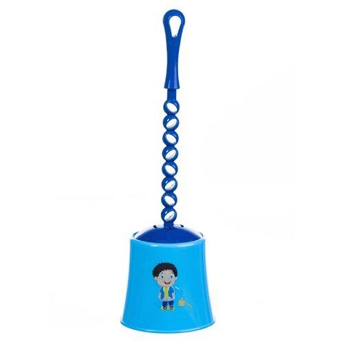 Ершик туалетный Mario Kids 8331 голубой