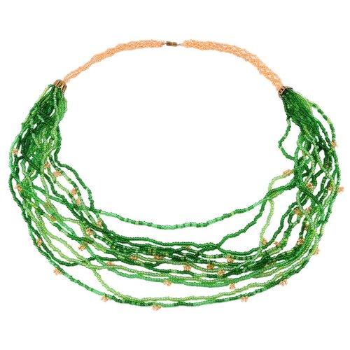 Купить Hobby & Pro Набор для бисероплетения Бусы 'Зеленые нити' БП-109 зеленый, Фурнитура для украшений