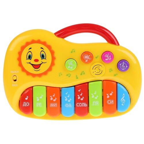 Купить Умка пианино B1247771-R желтый, Детские музыкальные инструменты