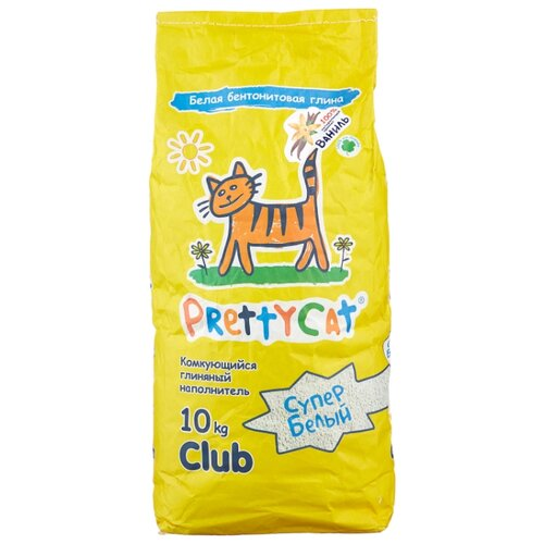 Комкующийся наполнитель PrettyCat Супер Белый с ароматом ванили 10 кг pretty cat prettycat супер белый с ароматом ванили 5 л