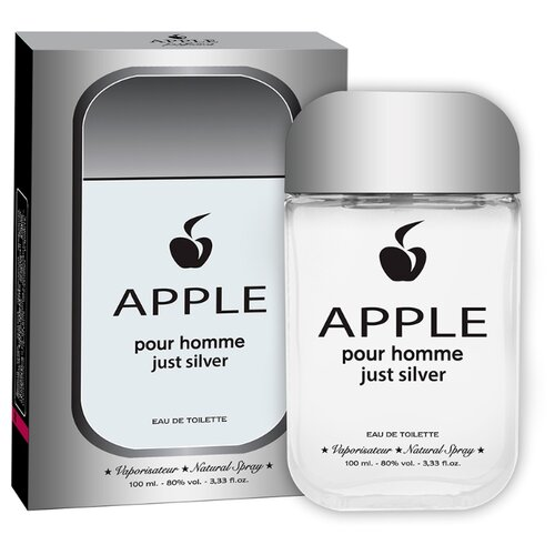 Туалетная вода Apple Parfums Apple pour Homme Just Silver, 100 мл apple parfums туалетная вода gladiator noir мужская 90 мл