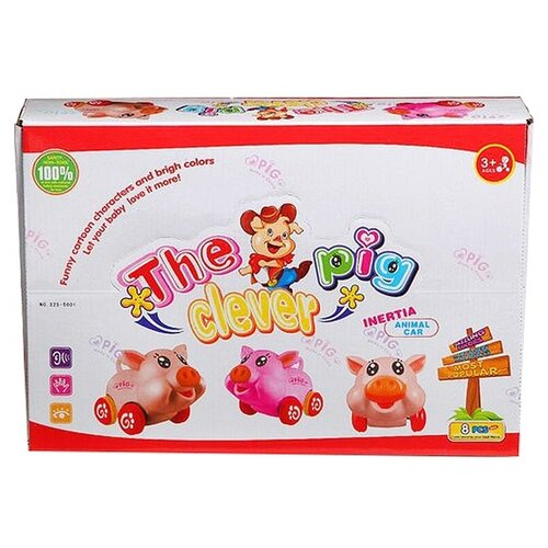 Игрушки-каталки Гратвест пластиковые свинки, 8 штук, The Clever Pig (Н62535)