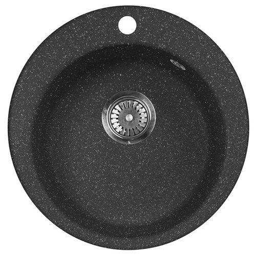 Фото - Врезная кухонная мойка 47.5 см А-Гранит M-05 черный врезная кухонная мойка 47 5 см а гранит m 05 красный марс