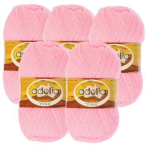 Купить Пряжа Adelia Tina, 100 % акрил, 100 г, 308 м, 5 шт., №013 розовый