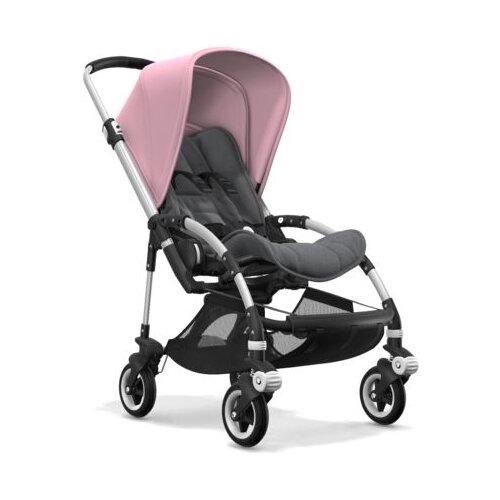 Прогулочная коляска Bugaboo Bee⁵ Alu/Grey melange/Soft pink, цвет шасси: серебристый