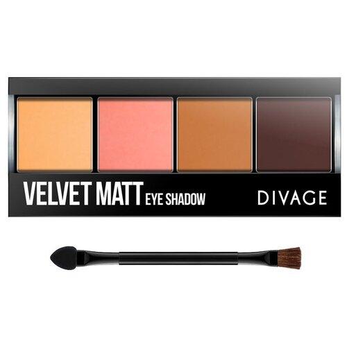 DIVAGE Палетка теней Palettes Eye Shadow Velvet matt №01 velvet matt divage палетка блесков для губ all in one 01 divage помада