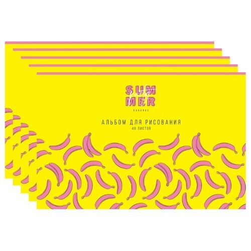 Купить Набор альбомов для рисования ArtSpace Стиль. Banana party 29.7 х 21 см (A4), 100 г/м², 40 л. (5шт.), Альбомы для рисования
