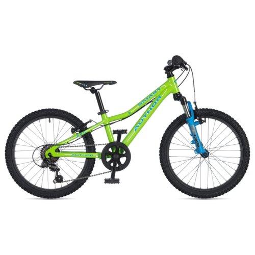 Фото - Подростковый горный (MTB) велосипед Author Smart 20 (2020) green/blue 10 (требует финальной сборки) горный mtb велосипед merida matts 7 20 2020 glossy purple lilac s требует финальной сборки