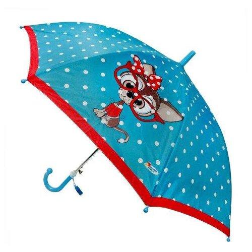 Зонт Играем вместе голубой/красный