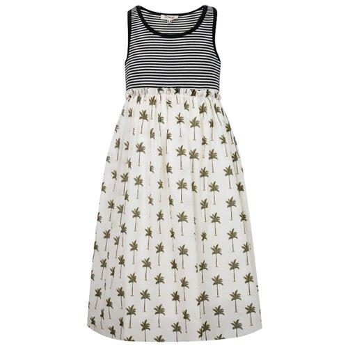 Платье Dixie размер 152, белый/полоска