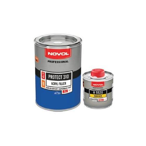 Грунт-наполнитель NOVOL PROTECT 310 4+1 (HS), 2 шт. черный 1 л