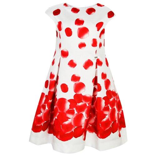 Платье Mayoral размер 92, белый/красный платье oodji ultra цвет красный белый 14001071 13 46148 4512s размер xs 42 170
