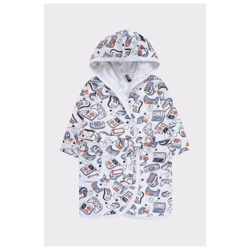 Фото - Халат crockid размер 98, белый/синий халат crockid размер 98 серый меланж