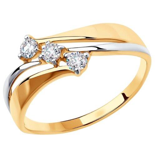 Diamant Кольцо из золота с фианитами 51-110-00860-1, размер 16