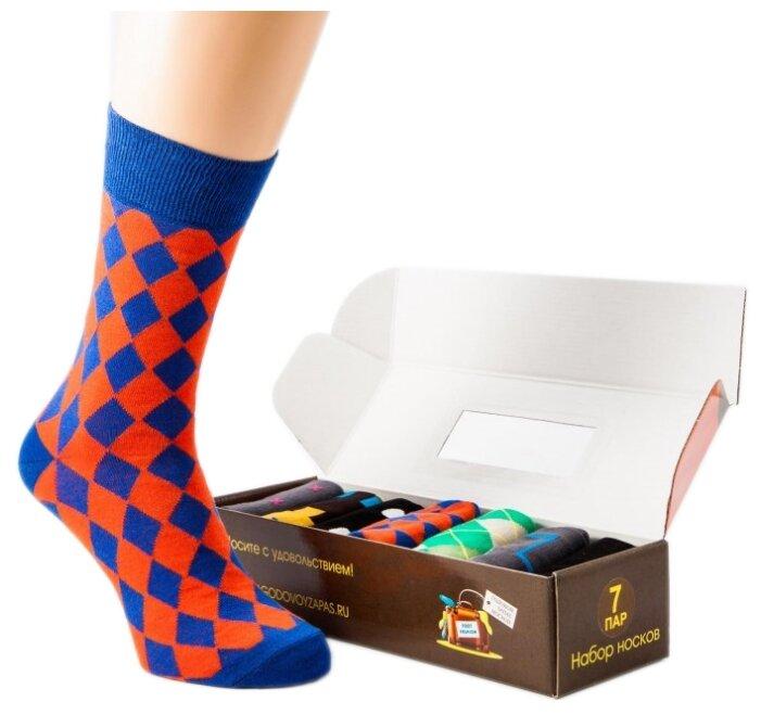 Носки Дизайнерские ассорти №3, набор из 7 пар Годовой запас носков