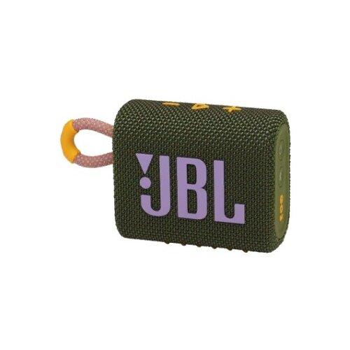 Портативная акустика JBL GO 3, green портативная акустика jbl go 3 white