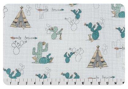 Ткани фасованные PEPPY (P - W) для пэчворка SMD EMBRACE (марлевка) ФАСОВКА 100 x 125 см 110 г/кв.м 100% хлопок young & brave beige