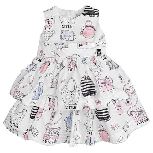 Платье Gulliver Baby размер 80, белый платье oodji ultra цвет красный белый 14001071 13 46148 4512s размер xs 42 170