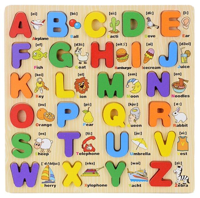 Рамка-вкладыш Dolemikki Английский алфавит, прописные буквы (WJ0084), 26 дет.