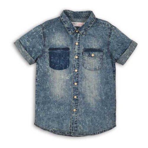 Рубашка Minoti размер 7-8л, синий худи minoti размер 7 8л серый