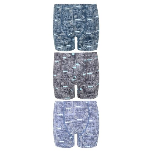 Купить Трусы BAYKAR 3 шт., размер 158/164, голубой/серый/синий, Белье и пляжная мода