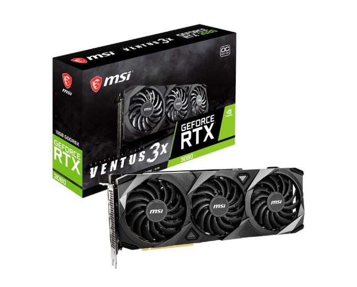 Видеокарта MSI GeForce RTX 3080 1740MHz PCI-E 4.0 10240MB 19000MHz 320 bit HDMI 3xDisplayPort HDCP VENTUS 3X OC — купить по выгодной цене на Яндекс.Маркете