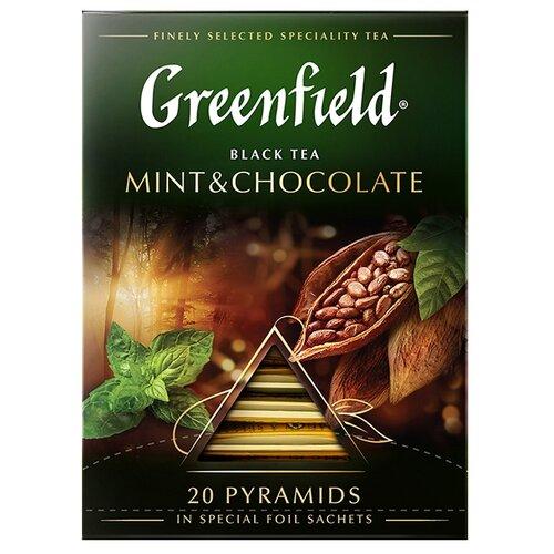 Чай черный Greenfield Mint & Chocolate в пирамидках, 20 шт. чай черный greenfield sicilian citrus в пирамидках 20 шт