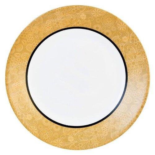 Luminarc Тарелка десертная Celebration 19 см белый/золото luminarc тарелка десертная lavender 19 см белый