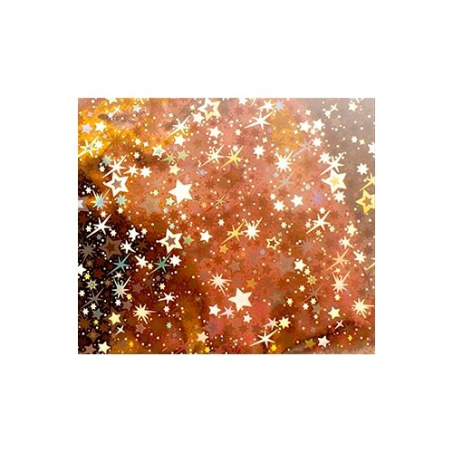 Фольга Vogue Nails переводная звездное золото
