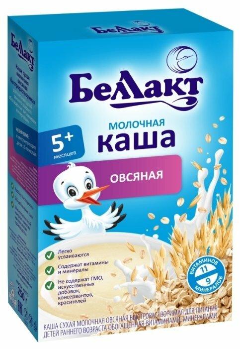 Каша Беллакт молочная овсяная (с 5 месяцев) 250 г