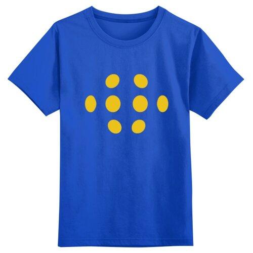 Купить Футболка Printio размер 4XS, синий, Футболки и майки