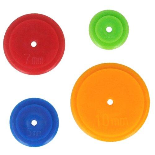 Gamma Приспособление DM-04 для разметки контура при рукоделии, 4 шт. красный/зеленый/оранжевый/синий gamma держатели для ниток на шпульке tsb 02 4 шт синий