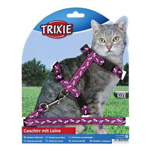 Шлейка+поводок для кошки TRIXIE 35-45см