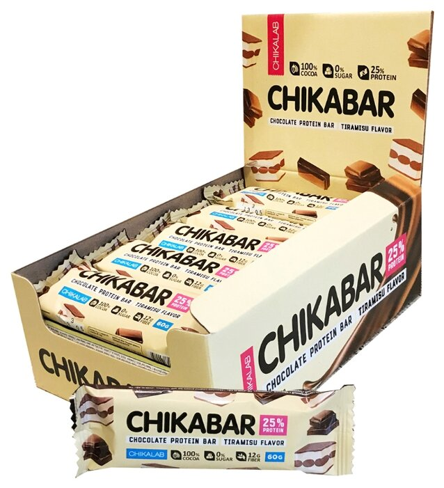 Chikalab протеиновый батончик 25% (60 г.)(20 шт.)