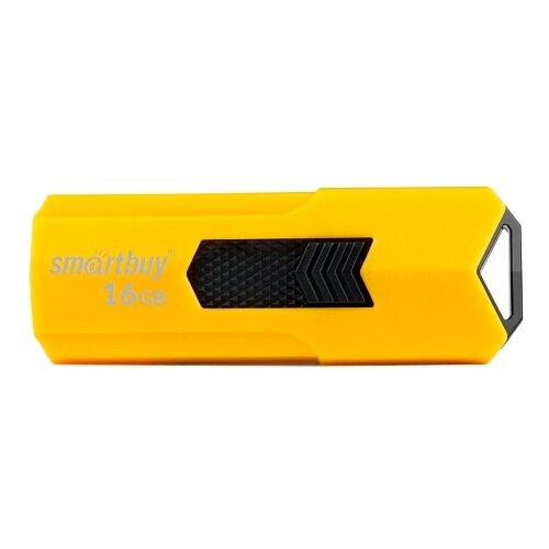 Фото - Флешка SmartBuy Stream USB 2.0 16GB желтый флешка usb 16gb qumo cosmos usb2 0 хром qm16gud cos