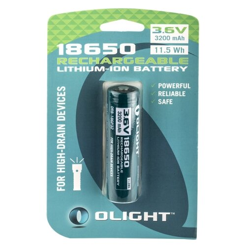Фото - Аккумулятор Li-Ion 3200 мА·ч Olight 18650 ORB-186P32 1 шт блистер аккумулятор