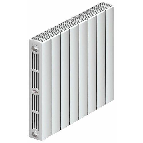 Радиатор секционный биметаллический Rifar SUPReMO 350 x6 теплоотдача 840 Вт, 6 секций, подключение диагональное (подача справа) RAL 9016 биметаллический радиатор rifar рифар b 350 6 сек кол во секций 6 мощность вт 816