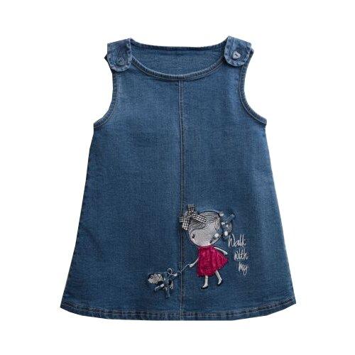 Сарафан playToday размер 92, синий/фиолетовый/белыйПлатья и юбки<br>