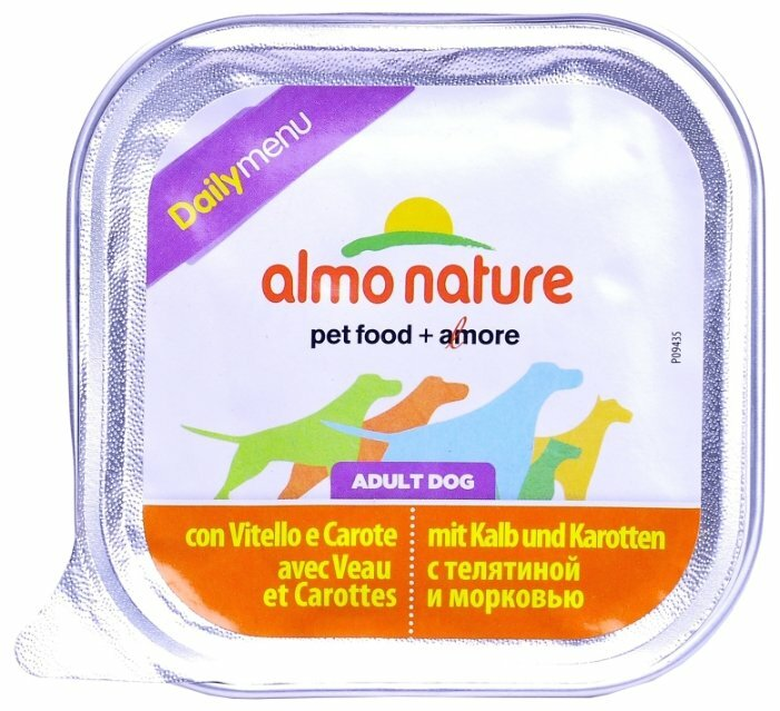 Корм для собак Almo Nature Daily Menu телятина с морковью