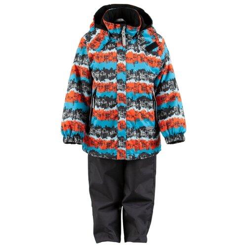 Комплект с полукомбинезоном KERRY August K19030 размер 110, 6370 синий/коричневыйКомплекты верхней одежды<br>